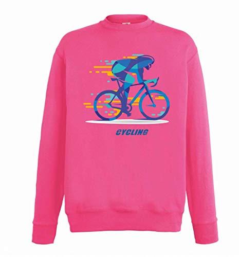 Druckerlebnis24 Pullover - Rennrad Fahrrad Silhouette Radler - Sweatshirt Unisex für Kinder - Junge und Mädchen