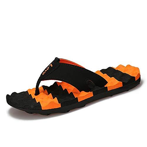 Zapatillas para Hombre Chancletas de los Hombres Resbalón Ocasional en el Estilo Cuero de la PU Color de Moda a Juego Zapatillas Flexibles Ligeras Transpirable Antideslizante