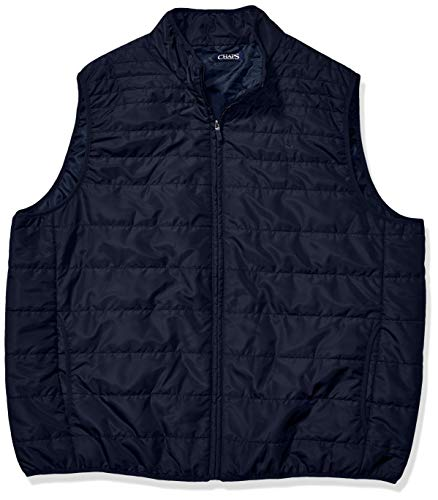 Chaps Men's Big and Tall Packable Quilted Vest, Newport Navy, 2XB