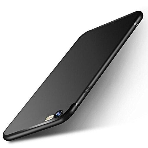 iPhone 6s Handyhülle , iPhone 6 Schutzhülle , otumixx Ultra Dünn Soft Silikon Schutzhülle iPhone 6s Bumper Case Kratzfest Stoßfest Anti Fingerabdruck Silikon Hülle für iPhone 6s/6 Case Cover, Schwarz