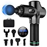 Deep Tissue Massage Gun, WeGuard G7 Pro Massager Deep Tissue Percussion Massager Cordless 30 Speed, 6 Hours Playtime Handheld Electric Body Massager for Athletes Pain Relief & Relax