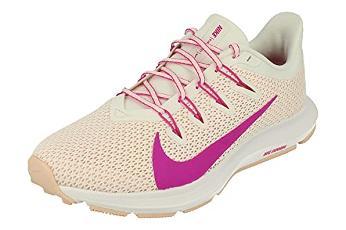 Nike Quest 2 Trail Chaussures de course pour femme, blanc (Summit White Fire Pink 102), 37.5 EU
