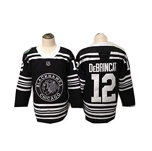 Yajun Alex DeBrincat#12 Chicago Blackhawks Eishockey Trikots Jersey NHL Herren Sweatshirts Atmungsaktiv T-Shirt Bekleidung,XL