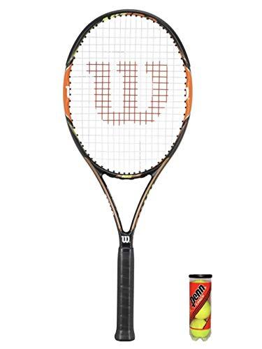Wilson Nitro Pro 103 - Raqueta de tenis y 3 pelotas de tenis