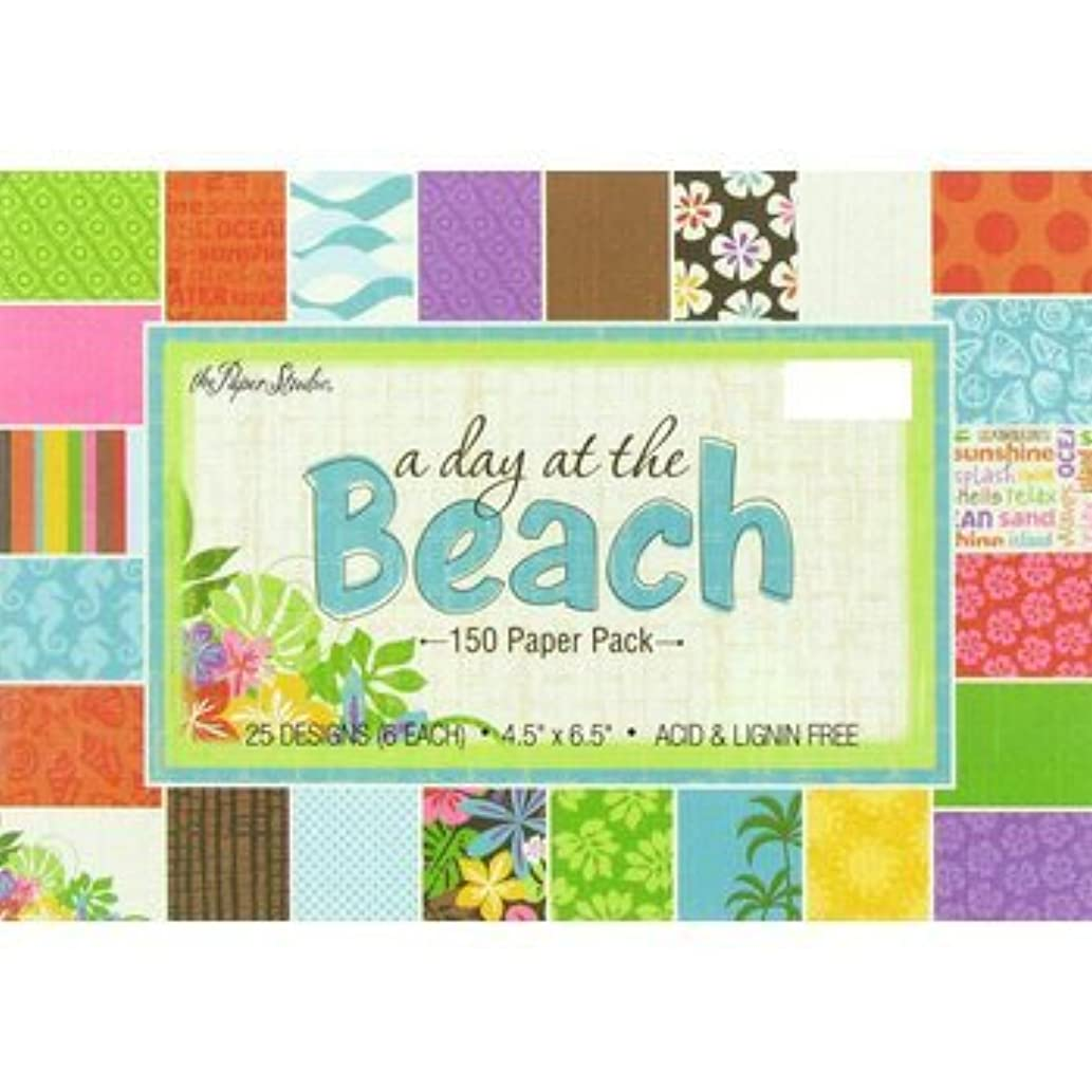 A Day At The Beach Scrapbook Paper Pad, 4.5 x 6 Hibiscus, Palm Trees, Flowers