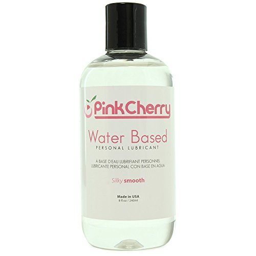 PinkCherry Water Based Personal Lubricant in 8 Ounces - Unflavored Unscented Latex Safe Lube