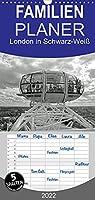 London in Schwarz-Weiss - Familienplaner hoch (Wandkalender 2022 , 21 cm x 45 cm, hoch): Die Stadt London aus den unterschiedlichsten Perspektiven (Monatskalender, 14 Seiten )