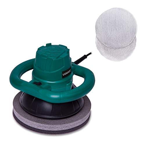 VONROC Exzenter-Poliermaschine 120 W – Ø240 mm – Inkl. 2 Polierhauben mit Aufbewahrungstasche