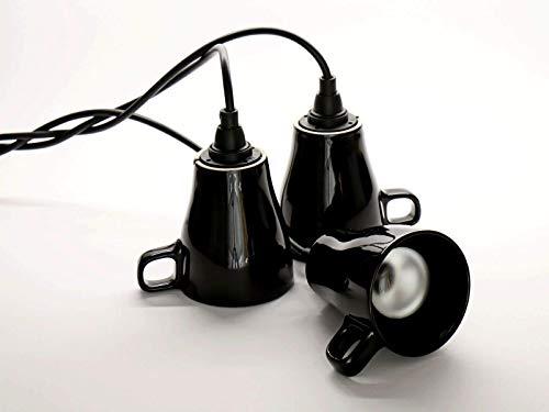 Tassenlampe, Geschirrlampe, Lampe aus Tassen, Boho Küchenlampe aus Geschirr