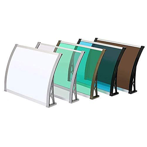 Toldo para Puerta Aire Acondicionado/Ventanal/Balcón/Toldo para el hogar Aleación de Aluminio Toldo para Lluvia Toldo para Lluvia silencioso para Exteriores (Color: Blanco, T