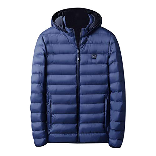 Boliaman Heat Heated Hoodie with Battery Pack - Electric Sweater Jacket for Men Women Blue