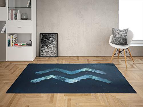 Oedim Alfombra Signo Zodíaco Acuario para Habitaciones PVC | 95 x 165 cm | Moqueta PVC | Suelo vinílico | Decoración del Hogar | Suelo Sintasol | Suelo de Protección |