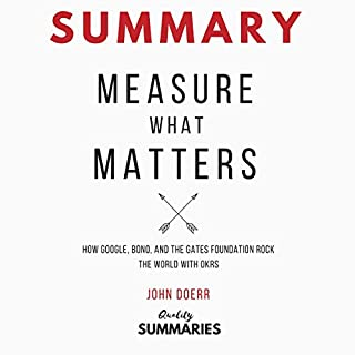 Summary: Measure What Matters by John Doerr audiobook cover art