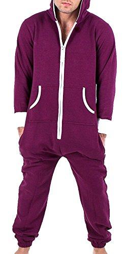 Juicy Trendz® Herren Onesie Trainingsanzug Jogginganzug Einteiler Unisex Overall Jumpsuit