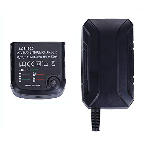 JANRI Replacement LCS1620 LCS1620B Charger 20V MAX Lithium Battery Charger for Black and Decker 14.4V 18V Lithium Ion Battery LBXR20 LBXR20-OPE LB20 LBX20 LBX4020 LB2X4020 LBXR2020-OPE BL1514 LBXR16