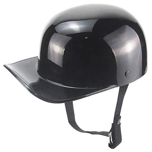 Casco de cara abierta, cascos Casco de motocicleta medio casco, casco de motocicleta de estilo alemán Casco de gorra de béisbol de estilo alemán para adultos, hombres y mujeres, aprobado por el DOT