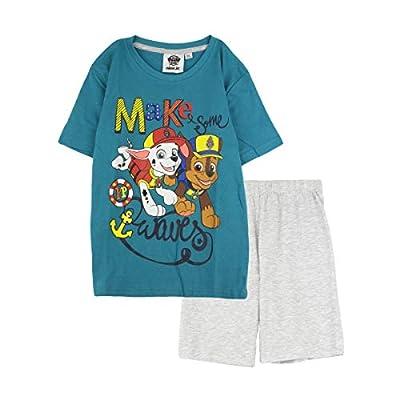 Paw Patrol - Pijama de Manga Corta para niños Verde Verde 3 años por