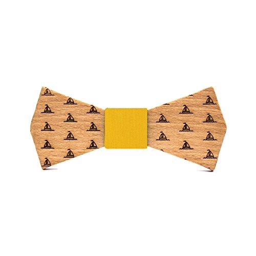 Territorial Pajarita de madera Sailor Boat. Colección de moda hombre: Confeccionada en...
