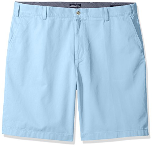 Nautica Men's Big and Tall Cotton Twill Flat Front Chino Deck Short-C92110, Noon Blue, 54W