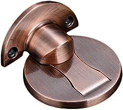 Tope de puerta de acero inoxidable, 2 paquetes de tope magnético para puerta, agujero de taladro y adhesivo 3M, montaje en el suelo, para dormitorio, sala de estar, baño, ducha, oficina