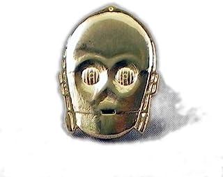 Spilletta smaltata in metallo placcato oro, a forma di C3PO, droide della saga di Star Wars