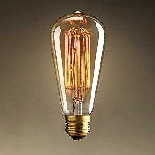 EYE EFFECT Edison Glühbirne – Vintage Lampe dimmbar - Retro Beleuchtung für Wohnung, Geschäft & antike Bar – Squirrel Cage Glühbirne