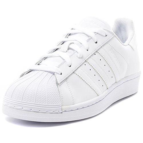 adidas Unisex Adult Superstar Low-Top Sneakers, White (Ftwr White/Ftwr White/Ftwr White), 8 UK (42 EU)