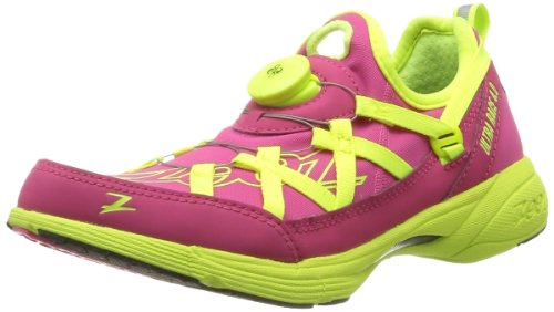 Zoot Women's W Ultra Race 4.0 Running Shoe,Beet/Safety Yellow,10 M US