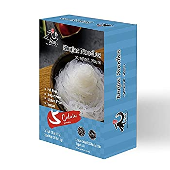 YUHO Shirataki Konjac Angel Hair Pasta 8 Pack Inside Vegan Low Calorie Food Gluten Free Fat Free Keto Friendly Low Carbs Healthy Diet 53.61 Oz  1520 g