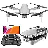 Dron WiFi con cámara HD de 1080P, control por voz, cuadricóptero RC de video en vivo de gran angular con retención de altitud, con sensor de gravedad, despegue / aterrizaje con una tecla, plateado 4K