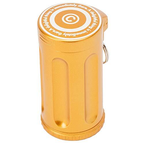 Dreams(ドリームズ) 携帯灰皿 シガーネスト ハニカム 7本収納 ゴールド MDL45213直径3.5×高さ7.0cm
