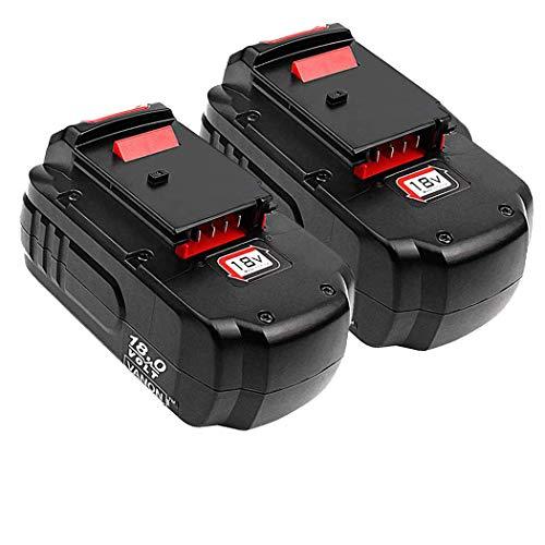 2-Pack 18V 3.6Ah PC18B for Porter Cable Replacement Battery, Ni-MH Battery for Porter Cable PC18BL PC18BLX PC18B-2 PCC489N PCMVC PCXMVC