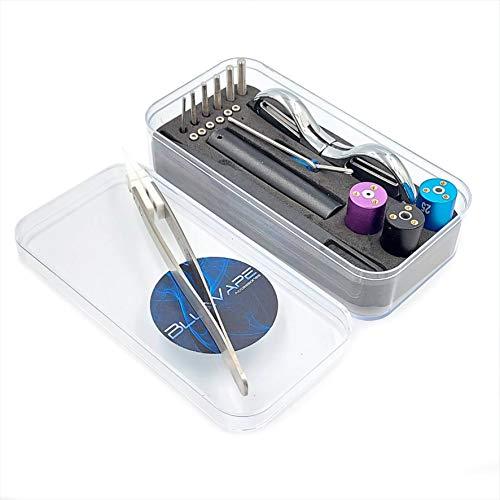 BLUEVAPE DIY Wire Jig 6 in 1, Coil Jig Winding Set for Other Crafts with Authenticity Scratch Code, Plastic Tweezers,Ceramic Tweezers, Mini Scissor, Tiny Cross Tip Screwdriver, Hexagon Screwdriver.