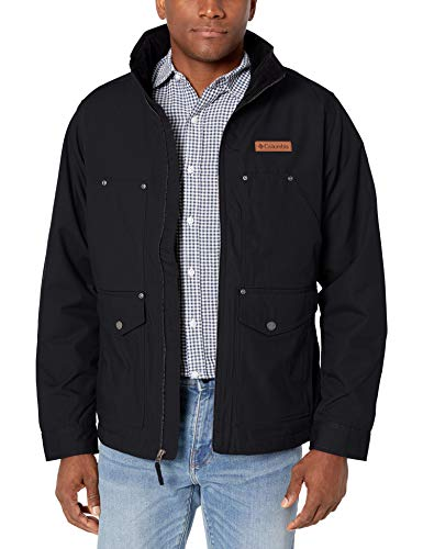 Columbia Men's Loma Vista Jacket, Black/Mountain Red Plaid, X-Large