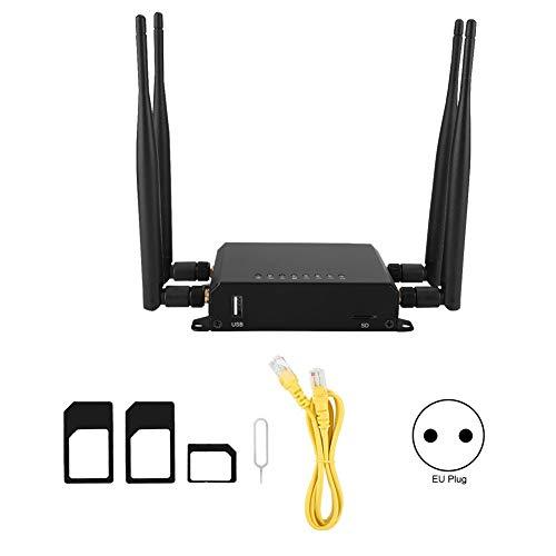 Draadloze router, 4G/3G WiFi, draadloos, WLAN-router, hotspot, modem met SIM-kaartsleuf, EU