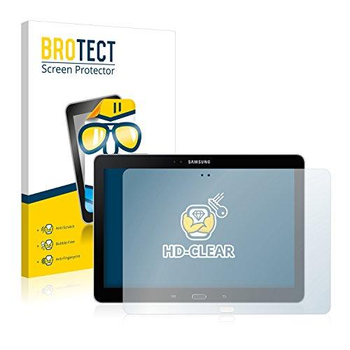 BROTECT Schutzfolie kompatibel mit Samsung Galaxy Note 10.1 2014 Edition WiFi SM-P600 (2 Stück) klare Displayschutz-Folie