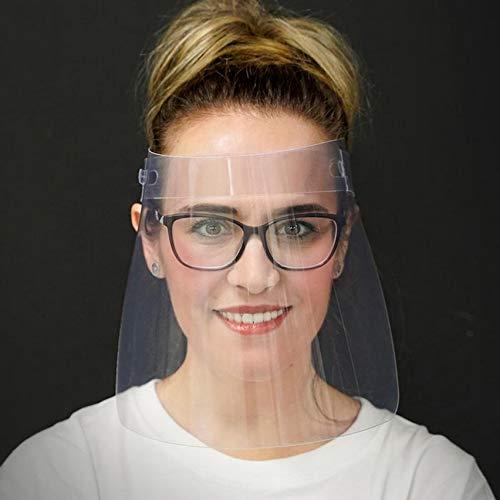 Pack 2 ud Pantalla Protección Facial Transparente. Pantalla Protectora para Cara, ojos, nariz y boca. Protector Facial con Visera Protectora ajustable.