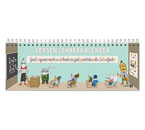 PERSEN Lehrerkalender 2020/21 Tischkalender, Lehrerkalender für alle Klassenstufen, mit Halbjahreskalender, Ferienkalender & Geburtstagskalender, Ringbindung, 224 Seiten