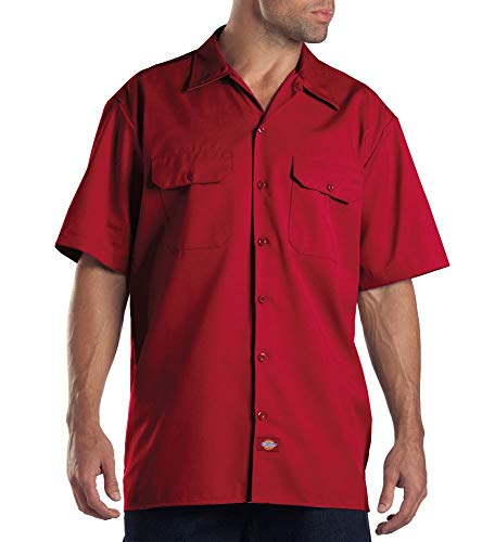 Dickies Herren Regular Fit Freizeit Hemd Shrt/S Work Shirt, Kurzarm, Rot (English Red ER), Gr. XX-Large (Herstellergröße: XXL)