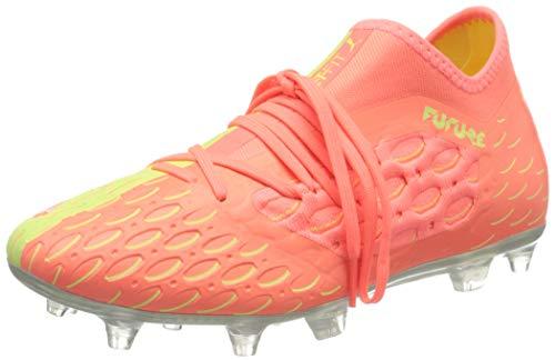 PUMA Future 5.3 Netfit OSG FG/AG, Botas de Fútbol Hombre, Rosa (Nrgy Peach/Fizzy Yellow), 39 EU
