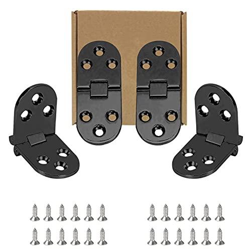 4 piezas Bisagra muebles Bisagra de Metal bisagras de Aleación de Zinc de Flip Bisagra para Máquina de Coser Puerta Solapada y Suplementos para Mesa Plegable Puerta de Mueble Armario de Cocina