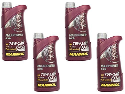 MANNOL Getriebeöl Maxpower 4x4 75W-140 API GL 5 LS 4 Stück á 1 Liter