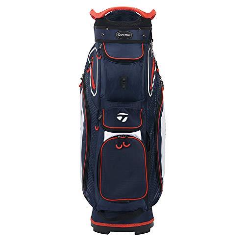 TaylorMade Cart 8.0 Bag, Navy/White/Red