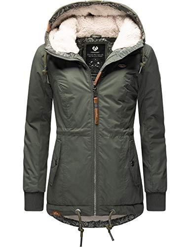Ragwear Damen Winterjacke Outdoorjacke mit Kapuze YM-Danka Olive20 Gr. L