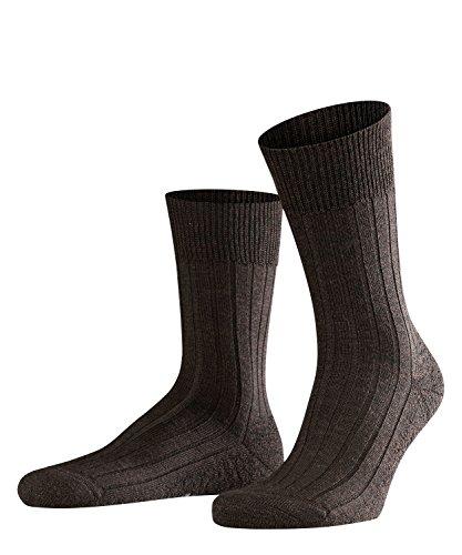 FALKE Herren Socken Teppich Im Schuh, Schurwolle, 1 Paar, Braun (Dark Brown 5450), 43-44 (UK 8.5-9.5 Ι US 9.5-10.5)