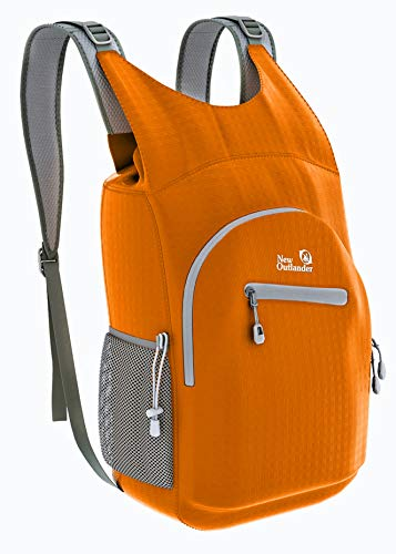 Outlander 100% Waterproof Hiking Backpack Lightweight Packable Travel Daypack(Orange)