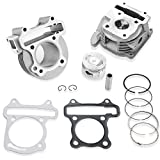 CLEO GY6 50cc-100cc Cylinder Head Kit Assy 50mm Big Bore with 69mm Valves for 139QMA 139QMB Engine Scooter Moped ATV Go Kart Quad