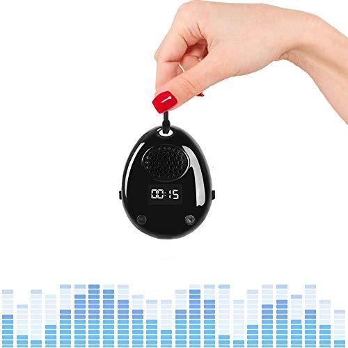 8GB Grabadora De Voz Digital, eoqo Audio Activada Por Voz Grabadora De Sonido Portátil + Reproductor De Música Con Altavoz Interno + Grabadora De Pasos + Visualización De Tiempo, Todo En Uno