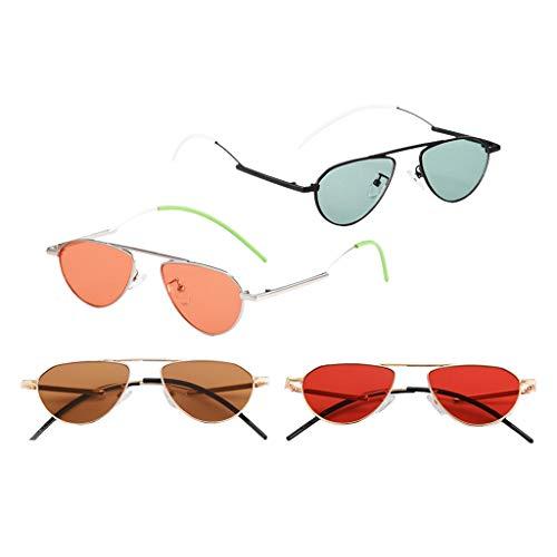 harayaa 4pcs Diseño Moderno Y Protección UV400 para Gafas de Sol Ovaladas de Moda para