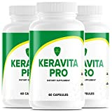 (3 Pack) Keravita Pro Fungus Max 101 Plus Hair Supplements Capsules Keravitamin Pro101 Keravitan (180 Capsules)